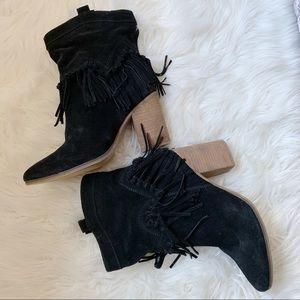 Black Aldo Western Booties